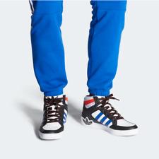 Adidas para hombre Hard Court Hi Top Zapatos Entrenadores Negro/Azul/Blanco FV5463 Reino Unido 8 a 11