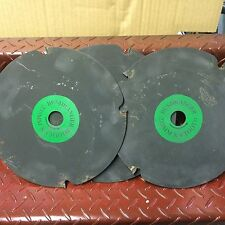 3 X Heavy Duty Brush cutter Metal Blade Carbon Tipped 4 Tooth AUSTRALIAN MADE