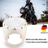 """Universal 7"""" Motorrad Scheinwerfer Verkleidung Lampenmaske für Harley Cafe Racer"""
