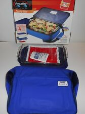 Pyrex Portables 4 Piece Family Size Glass 2 QT. Insulated Food Carrier Set NIB