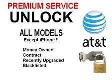 AT&T Factory Unlock Code All Models/ except iPhone++ ALL IMEI++ PREMIUM SERVICE