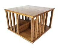 Vintage Edwardian Style Oak Wood Table Top Revolving Bookcase Shelf