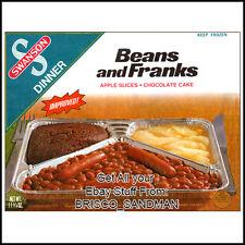 Fridge Fun Refrigerator Magnet SWANSON TV DINNER: BEANS & FRANKS Retro Food