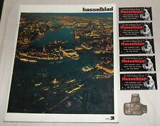 Hasselblad 3 Magazine Book 1968 Photokina Space NASA Stickers Emblem 500C/M SWC
