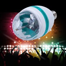 E27 3W Colorful Rotating Stage RGB LED Light Bulb Bright Party Disco Club Lamp *