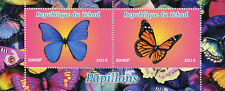 Chad 2014 MNH Butterflies Monarch Butterfly 2v M/S Papillons Insects Stamps