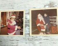 Vintage Photographs Cute Kids With Santa Clause Christmas Memorabilia 70s-80s