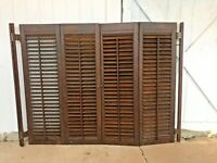 Vantage Paintable Louvered Shutters Grey 14x63 New in plastic