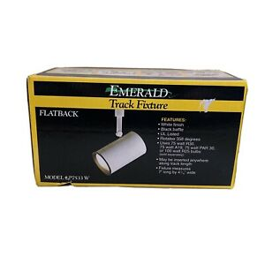 Emerald Track Light Fixture Flat Back White Model P7533W