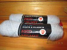 2 Red Heart Coats & Clark Skeins-Light Grey Color-#G42-15