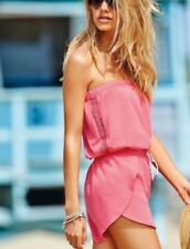 NEXT CORAL PINK  BANDEAU STRAPLESS PLAYSUIT SIZE 14 IDEAL OVER BIKINI BNWT