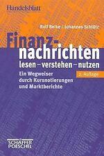 Finanznachrichten lesen, verstehen, nutzen. Ein Weg...   Buch   Zustand sehr gut