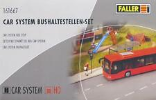 Faller 161667 H0 - CAR- SYSTEM Bushaltestellen- Set NEU & OvP