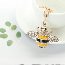 Rhinestone Bee Insect Shape Metal Key Chain Key Ring Handbag Pendant Lover  Gift 69e502215b