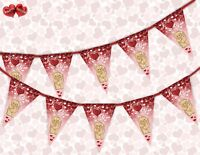 I Love (heart) You Valentines Day Themed Bunting Banner 15 flags by PARTY DECOR