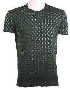 C'N'C (Costume National) full body double layered skinny fit tee dark green