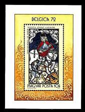 """HUNGARY - UNGHERIA - BF - 1972 - """"Belgica 72"""". Esp. Intern. Fil., Bruxelles"""