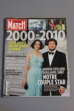 Paris match N°3162 2000-2010 10 ans qui ont changé le monde,Marion Cotillard