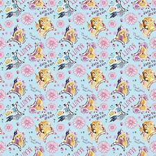 Fat Quarter Disney I Am A Princess Cotton Quilting Fabric Springs 52395