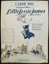 Vintage Sheet Music I LOVE YOU LITTLE JESSE JAMES Cowgirl Thompson Archer Vocal