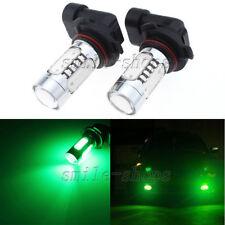2pcs Green 9005 HB3 COB LED Projector Bulbs For DRL Fog Light Driving Light Bulb