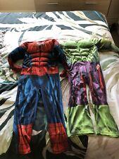 Boys Spiderman And Hulk Costumes 5/6 Years