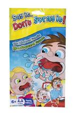 Say It Don't Spray It - 6 x Mouthguard Game packs - 2 player Travel party
