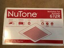 Nutone 672R NEW Bath Fan, 110 CFM Ventilation Fan with White Grille