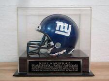 Football Mini Helmet Display Case With A Kurt Warner Cardinals / Rams Nameplate
