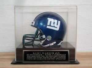 Kurt Warner Football Mini Helmet Display Case W/ A Cardinals / Rams Nameplate