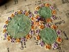 VINTAGE+HAND+CROCHETED+EMBROIDERED++DOILIES++X+3.+BEAUTIFULLY+MADE