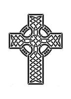CELTIC/GOTHIC/TRIBAL Cross MYLAR Stencil REUSABLE 125/190 micron A5/A4/A3