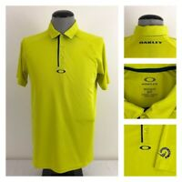 Oakley Hydrolix Mens S Yellow Regular Fit Golf Polo Pheasant Acres GC Shirt