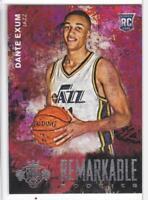 2014-15 Panini Court Kings Basketball #46 Dante Exum Jersey Card Rookie RC Jazz