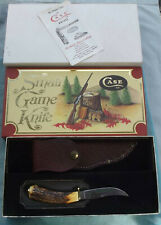 1979 CASE XX USA 523-3 1/4 SSP Stag Small Game Hunting Knife/Sheath/Box/Papers