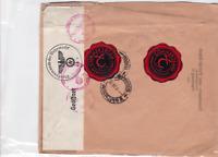 german  1941 geoffnet censor commercial bank stamps cover ref r15591