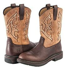 Noble Outfitters Work Boots Mens Ranch Tough Round Tobacco 7D (M) US