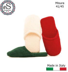 Ciabatte Spugna in cotone, ciabattine da casa, Pattine, Pantofole Uomo 41/45