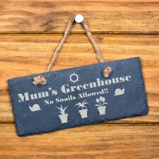 Mum's Greenhouse Slate Garden Plaque - No Snails SL-RC9