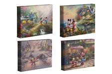 Thomas Kinkade Mickey and Minnie Sweetheart Series 8 x 10 Wraps (Set of 4)