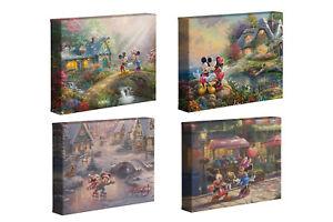 Thomas Kinkade Studios Mickey & Minnie Sweetheart Series 8 x 10 Wraps (Set of 4)