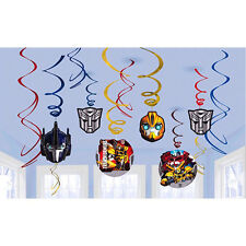 Transformers Autobot Hanging Swirl Decorations Boys Birthday Party Supplies 12ct