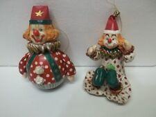 Vintage Kurt Adler Christmas Hand Painted Paper Mache Crown Ornaments - Set 0f 2