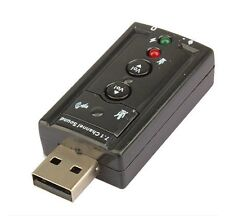 USB 2.0 3D Virtual 12Mbps External 7.1 Channel Audio Sound Card Adapter AB9