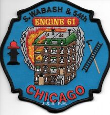 "*NEW*  Chicago  Engine - 61  ""S. Wabash & 54th"", IL (5"" x 5"" size)  fire patch"