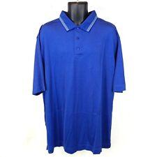 New NWT Cutter & Buck Men's XXL Blue 100% Pima Cotton Short Sleeve Polo Shirt