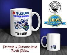 Suzuki GSX1300R Hayabusa Motorbike Personalised Ceramic Mug Gift (MB013)