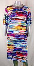 "Women's INVESTMENTS II DRESS Size 2X FORMAL NECK RHINESTONE ""SUNSET STRIP"" NWT"