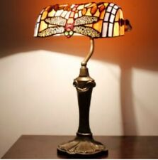 Tiffany Style Bankers Lamp Desk Light Handcrafted Bedside Lamps Stained Glass