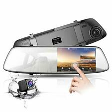 New listing Toguard Backup Camera 4.3 Mirror Dash Cam 1080P Touch Screen Front and Rear Dual